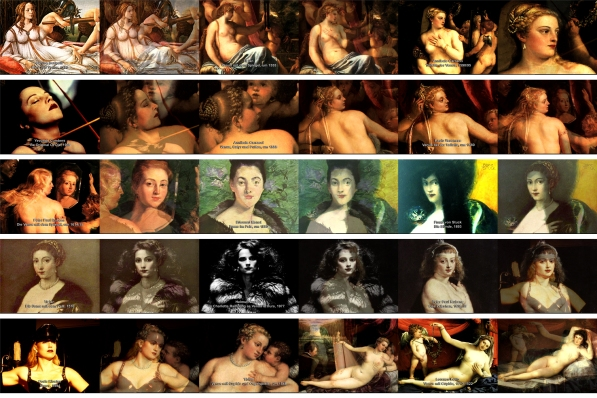 "Peter Weibel Video stills from: Peter Weibel, ""Venus im Pelz"", 2003, 00:04:31, PAL, color (Animation: Christina Zartmann)"