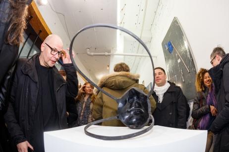Foto: André Wunstorf. Vernissage Under Construction 13. Januar 2017, Schau Fenster, Berlin